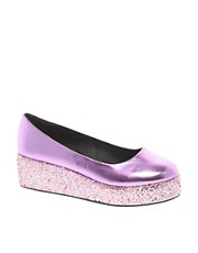 ASOS VOLLEY Glitter Flatforms