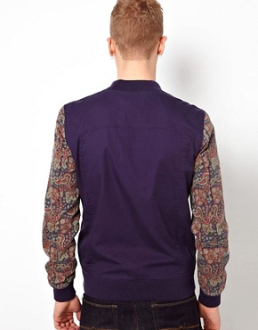 Image 2 ofASOS Bomber Jacket With Contrast Sleeves
