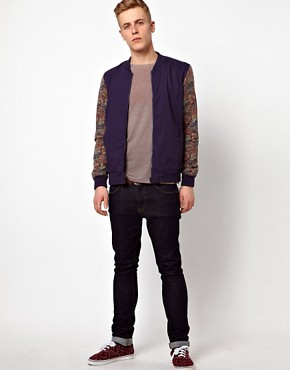 Image 4 ofASOS Bomber Jacket With Contrast Sleeves