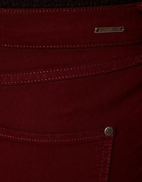 Image 3 of River Island Oxblood Denim Molly Jeggings