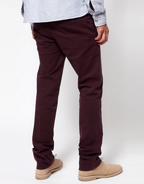 Image 2 ofDrykorn Slim Chino In Washed Cotton