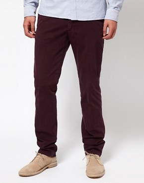 Image 1 ofDrykorn Slim Chino In Washed Cotton