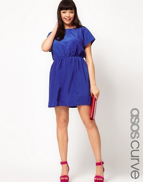 Image 1 ofASOS CURVE Dress With Keyhole Back