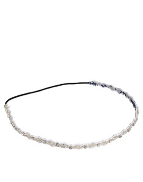 Image 2 ofDeepa Gurnani I Crystal And Gun Stretch Headband