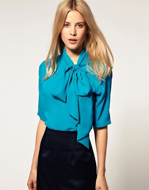 Image 1 ofASOS Blouse with Side Tie Pussybow