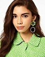 Image 2 ofASOS Pansy Pop Drop Earrings