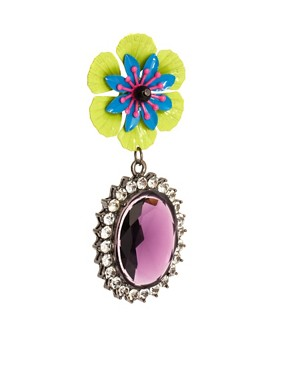 Image 3 ofASOS Pansy Pop Drop Earrings