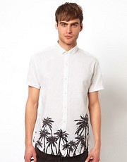 Selected Shirt with Palm Print
