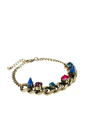 Image 1 ofASOS Spike Stone Bracelet