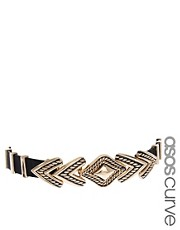 ASOS CURVE Engraved Arrow Waist Belt