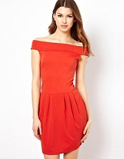 Club L Tulip Dress With Off Shoulder