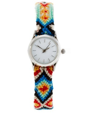 Image 1 ofASOS Friendship Bracelet Watch