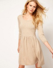 ASOS Knitted Dress With Zip Back