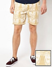 ASOS  Chino-Shorts mit Eulenmuster