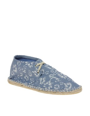 Image 1 ofASOS Floral Print Chukka Espadrilles