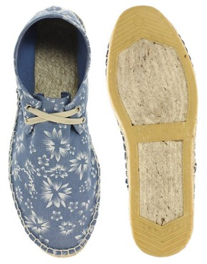 Image 3 ofASOS Floral Print Chukka Espadrilles