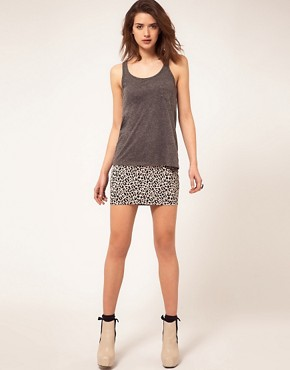 Image 1 ofRiver Island Leopard Jacquard Mini Skirt