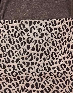 Image 3 ofRiver Island Leopard Jacquard Mini Skirt