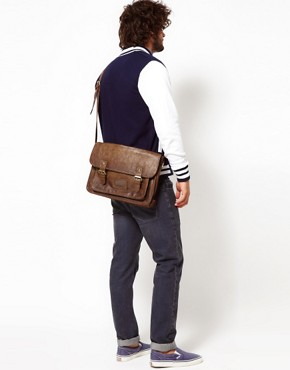 Image 4 ofASOS Double Buckle Satchel