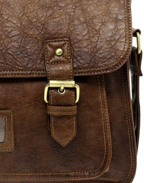 Image 1 ofASOS Double Buckle Satchel
