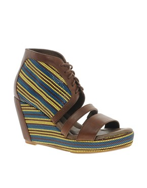 Image 1 of80%20 Erie Wedge Open Toe Heeled Sandal
