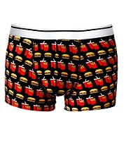 ASOS Trunks With Burger and Chips