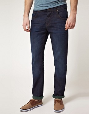 Image 1 ofASOS Slim Jeans With Contrast Turn Up
