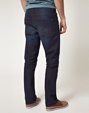 Image 2 ofASOS Slim Jeans With Contrast Turn Up