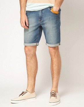 Image 1 ofASOS Denim Shorts In Skinny Fit