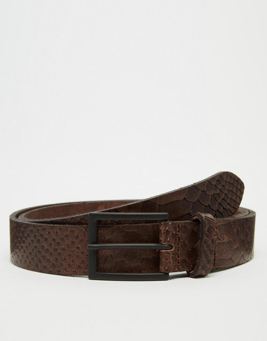 asos-smart-leather-belt-in-brown-snakeskin-brown