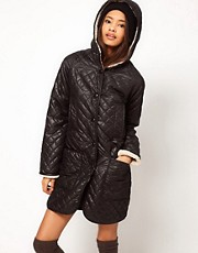 ASOS Longline Borg Lined Parka