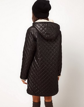 Image 2 ofASOS Longline Borg Lined Parka