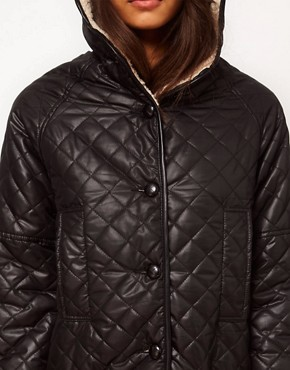 Image 3 ofASOS Longline Borg Lined Parka