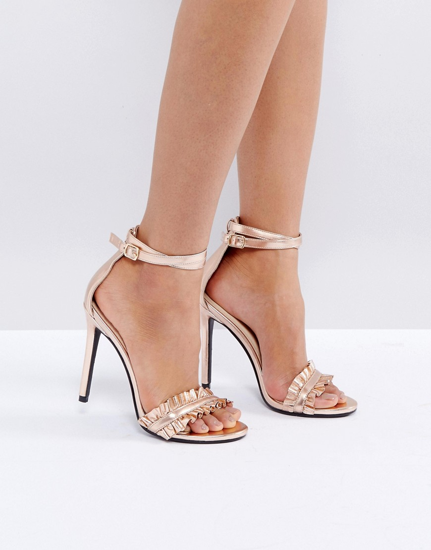 public-desire-pheonix-rose-gold-ruffle-heeled-sandals-gold