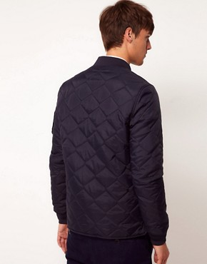 Image 2 of ASOS Bomber Jacket In Quilted Fabric
