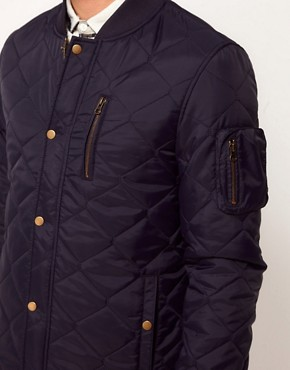 Image 3 of ASOS Bomber Jacket In Quilted Fabric