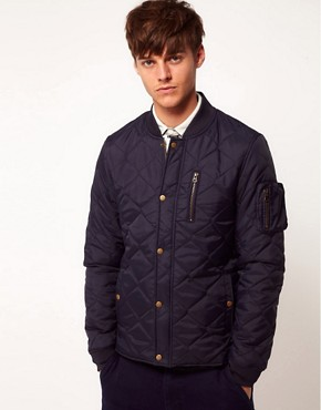Image 1 of ASOS Bomber Jacket In Quilted Fabric