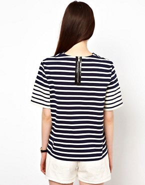Image 2 ofMarkus Lupfer Stripe Contrast Tee