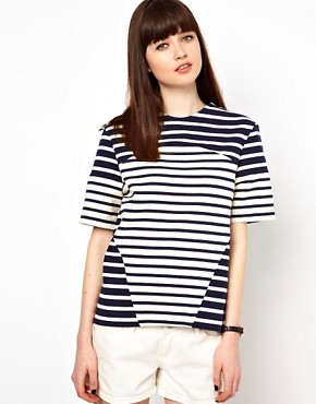 Image 1 ofMarkus Lupfer Stripe Contrast Tee