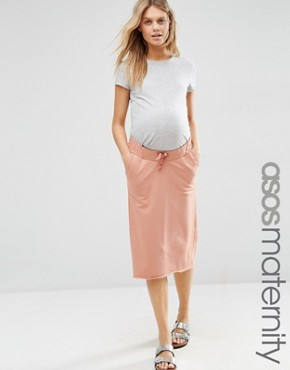 ASOS Maternity Casual Sweat Drawstring Pencil Skirt