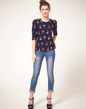 Image 4 ofSugarhill Boutique Blouse in Ice Cream Print