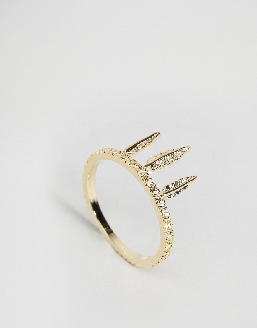 Limited Edition Festival Feather Ring - Gold