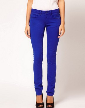 Image 1 ofASOS Skinny Jean in Bright Blue #4