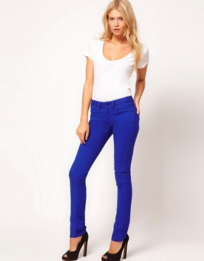 Image 4 ofASOS Skinny Jean in Bright Blue #4