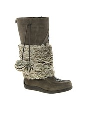 Muks Tall Boot With Faux Fur Lining