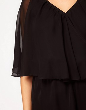 Image 3 ofASOS CURVE Playsuit With Cape Sleeve