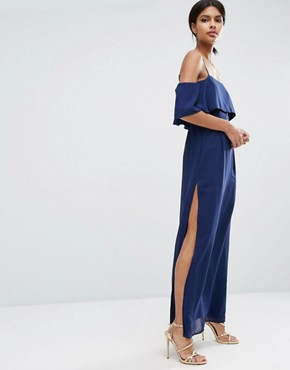 ASOS Cold Shoulder Maxi Dress