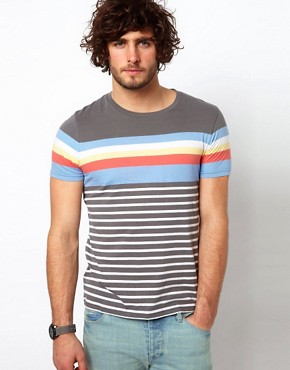 Image 1 ofASOS Stripe T-Shirt With Crew Neck