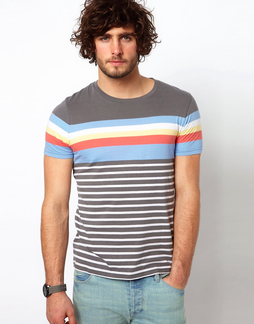 Image 1 of ASOS Stripe T-Shirt With Crew Neck