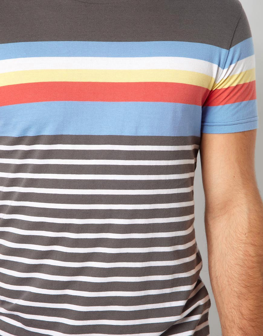 Image 3 of ASOS Stripe T-Shirt With Crew Neck